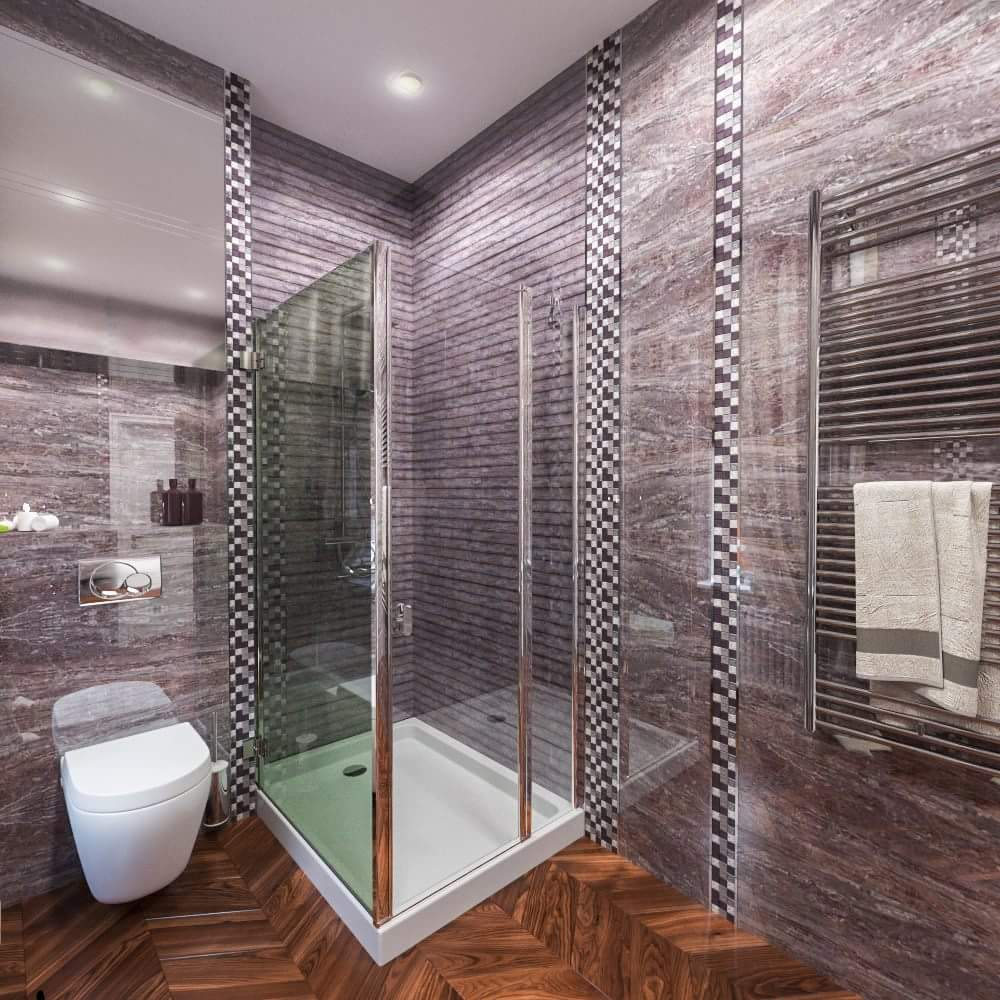 Guest bathroom design in a classic house interior